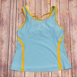 Nike Fit Dry Womens Aqua Top Tank Top Sz M 8-10